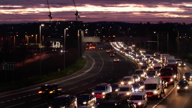 Morning city traffic jam. London. Version 2.