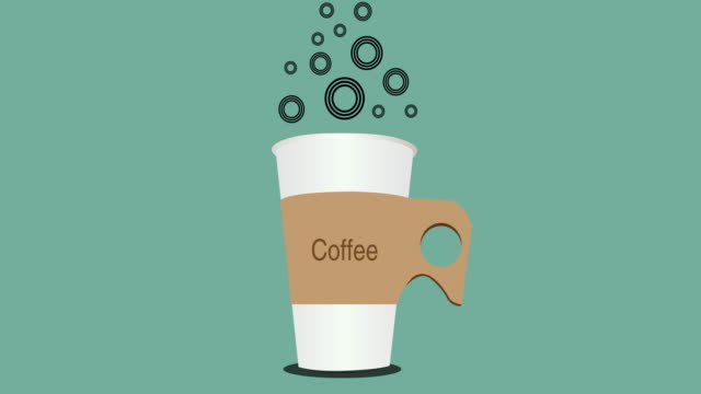 Morning Coffee animated Illustration, video animation video