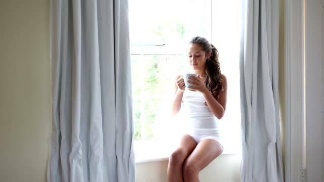 caffè mattutino - pausa caffè video stock e b–roll