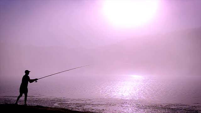 morning fishing morning fishing fishing rod stock videos & royalty-free footage