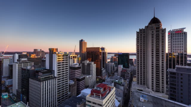 Morning in Downtown Auckland - Time Lapse video