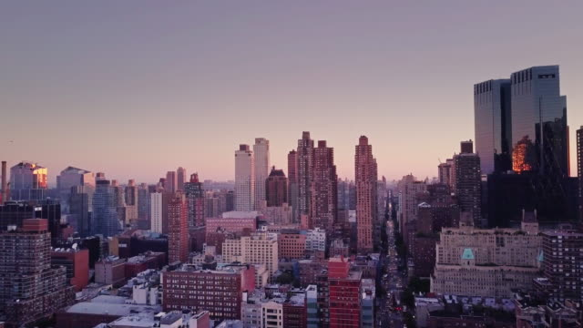 Morning in Manhattan - Aerial View video