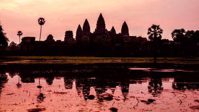 Morning light at Angkor Wat video