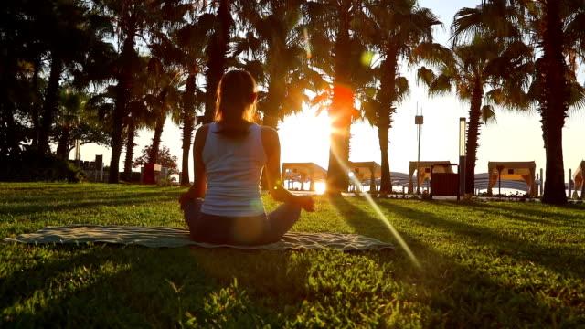 Morning meditation in the park video