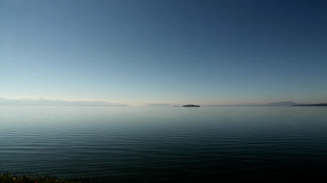 Morning on Yellowstone Lake. video