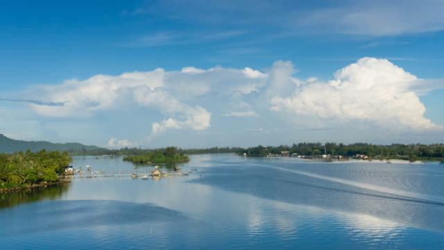 Morning rush at fishing village in Sabah Borneo video