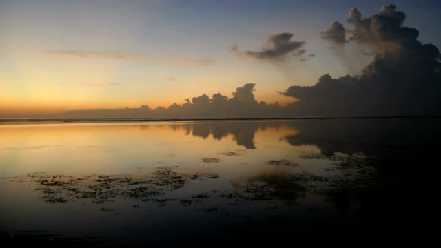 Morning scenery of Sanur Beach, Bali video