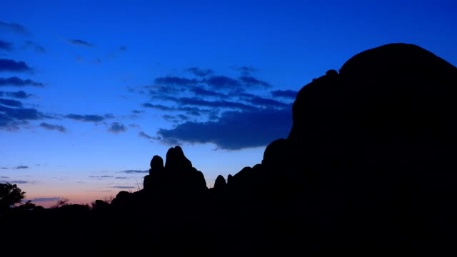 朝の時間の経過でスカルミナミジョシュアツリー国立公園 - ジョシュアツリー国立公園点の映像素材/bロール