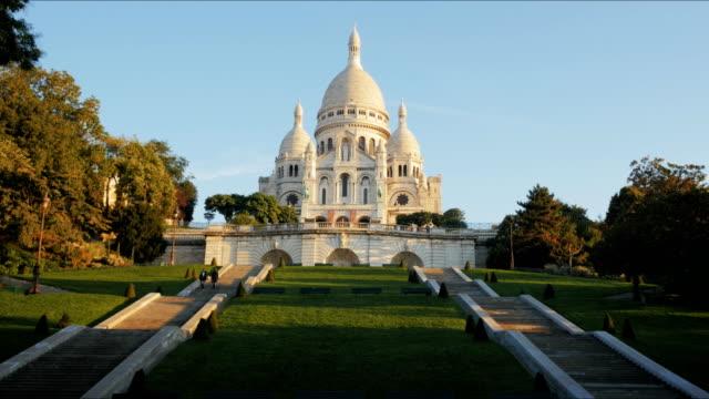 morgon visa av sacre coeur, paris - montmatre utsikt bildbanksvideor och videomaterial från bakom kulisserna