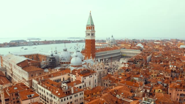 morning view over St Mark's Square in Venice, Italy.