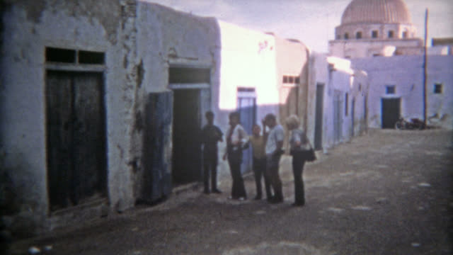 TUNIS, TUNISIA 1972: Moroccan ancient old town part of the port city. video