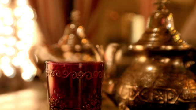 moroccan or arabic  tea - ramadan stock videos and b-roll footage