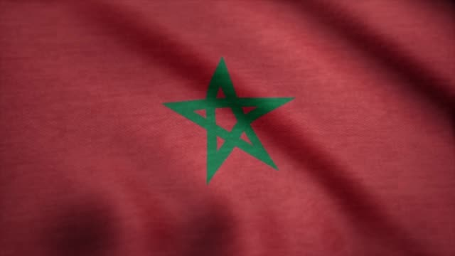 Morocco flag waving animation. Flag of Morocco on wind Morocco flag waving animation. Flag of Morocco on wind. allegory painting stock videos & royalty-free footage