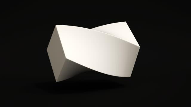 pętla kształtów morfingowych (b&w) - morfing filmów i materiałów b-roll
