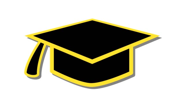 Royalty Free Mortarboard Icon Hd Video 4k Stock Footage B Roll