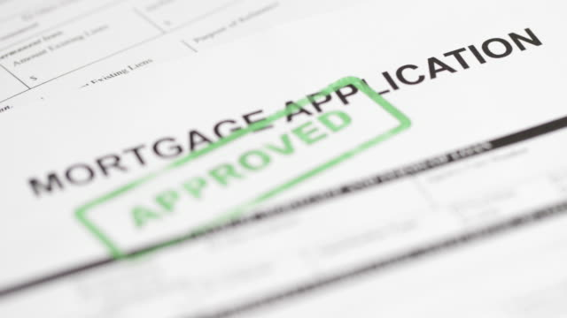 Mortgage Application - 4K A 4k resolution stock video of a Mortgage Application form. endorsing stock videos & royalty-free footage
