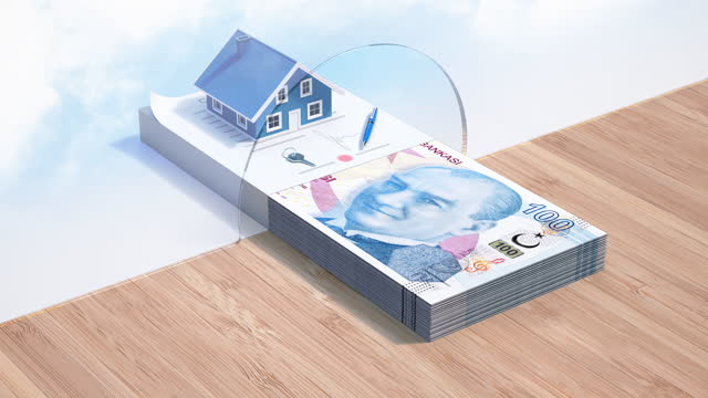 Mortgage Loan - Turkish Lira Credit - 4K Resolution Home Improvement, Home Ownership, House, Banking, Loan mortgages and loans stock videos & royalty-free footage
