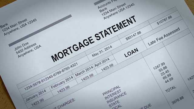 Mortgage payment statement past due video