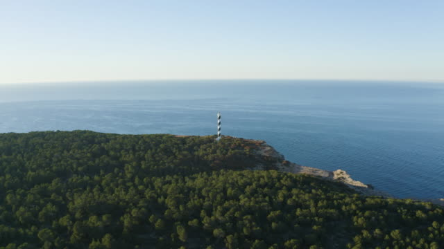 Moscarter Lighthouse, Portinatx - Ibiza. 4K