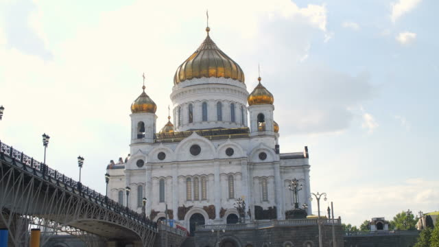 Moscow: Cathedral of Christ the Savior view from the river video