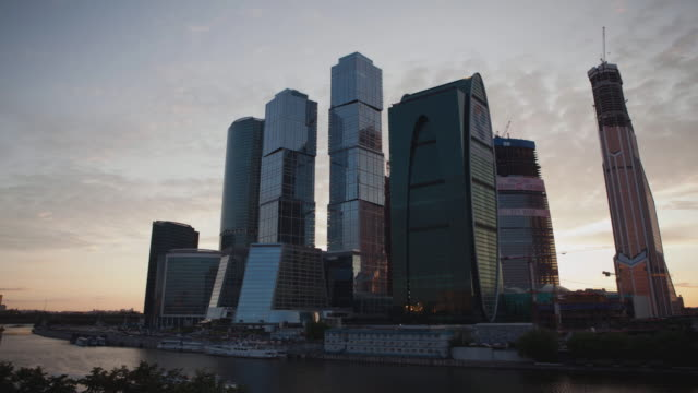 Russia. Moscow - 2015: TL 4K Moscow International Business Center video