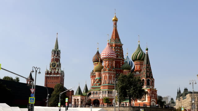kreml och saint basil cathedral - kreml bildbanksvideor och videomaterial från bakom kulisserna