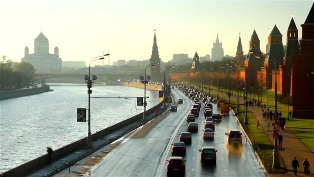 vídeos y material grabado en eventos de stock de moscú kremlin embankment - rusia