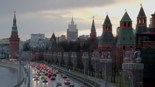 moskva ryssland visa på kreml towers. - röda torget bildbanksvideor och videomaterial från bakom kulisserna