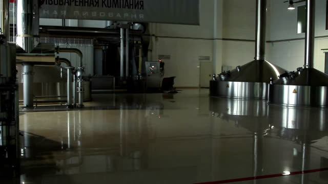 Moscow, Russian Federation – March 07, 2015: Brewing production - mash vats. Moscow Brewing Company. video