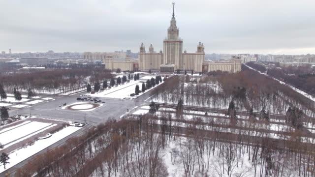 moskvas statliga universitet, flygfoto - moskva bildbanksvideor och videomaterial från bakom kulisserna