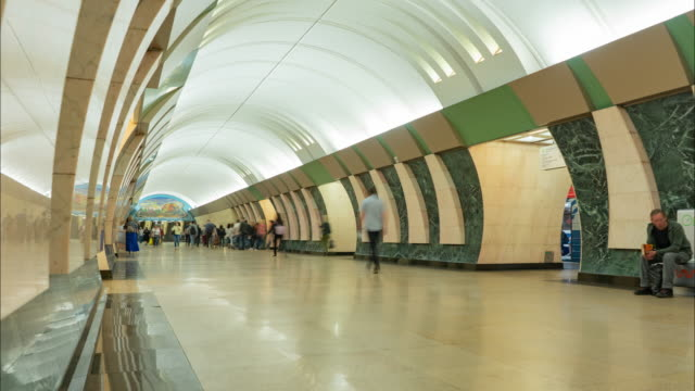 moscow Subway train Station ,moscow, russia video