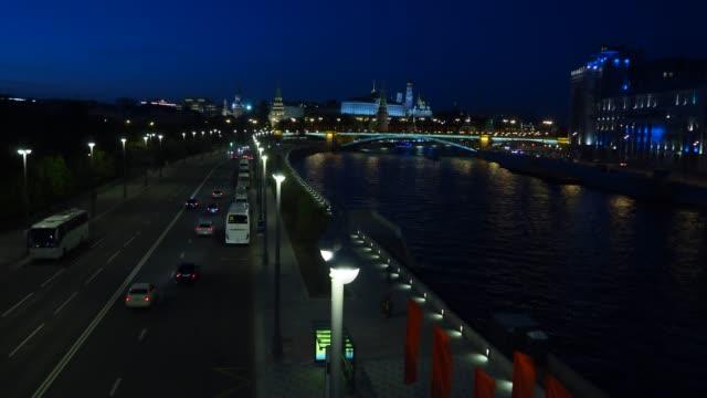 moscva river view in the heart of moscow - rzeka moskwa filmów i materiałów b-roll