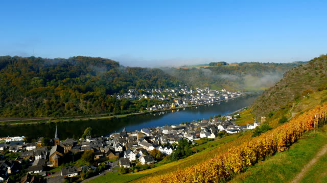 Moselle river from high view video