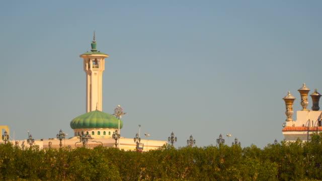 stockvideo's en b-roll-footage met moskee tegen de blauwe hemel in sharm el sheikh egypte - heilig geschrift