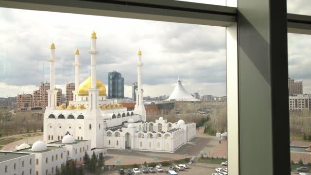 Mosque and the city, Astana, Kazakhstan