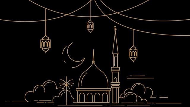 moské i månaden ramadan kareem - ramadan lykta bildbanksvideor och videomaterial från bakom kulisserna