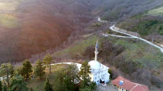 mosque in the mountains - meczet filmów i materiałów b-roll