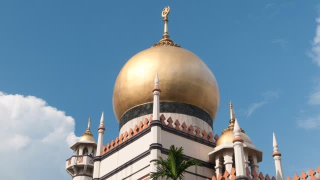 mosque with moving clouds - moské bildbanksvideor och videomaterial från bakom kulisserna