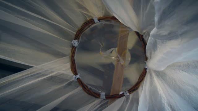 moskito-netto - moskitonetz stock-videos und b-roll-filmmaterial