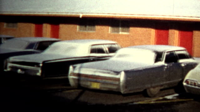 (8mm Vintage) 1974 Motel Living Homeless Cleaning Car For Money video