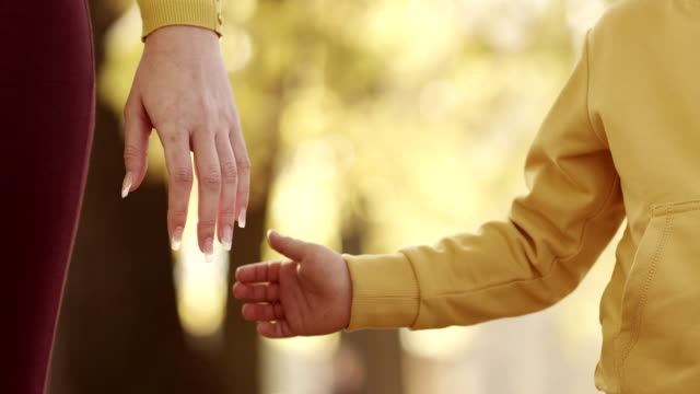 Mother and Child Holding Hands video