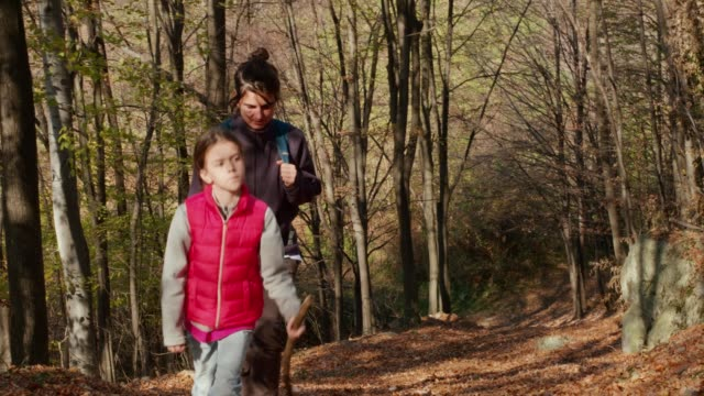 Mother and Daughter Hiking. video