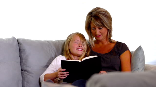 Mother and Daughter Reading #2