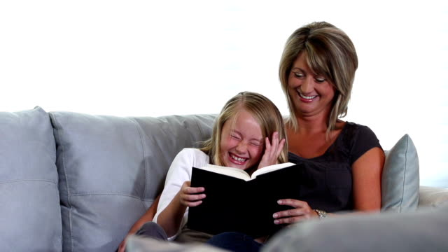 Mother and Daughter Reading #3
