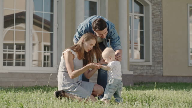 Mother and Father Playing with Cute Toddler Boy video