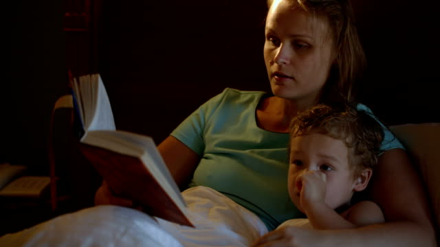 Mother and son before bedtime video