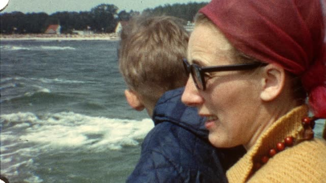 Mother and son on ship (vintage 8mm film) video