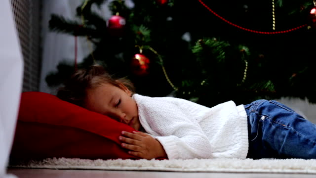 cc82dc593 Best Children Sleeping Christmas Stock Videos and Royalty-Free ...