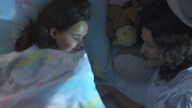HD: Mother Gently Waking Up Her Daughter video