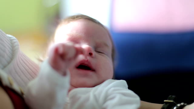 Mother holding new born baby video
